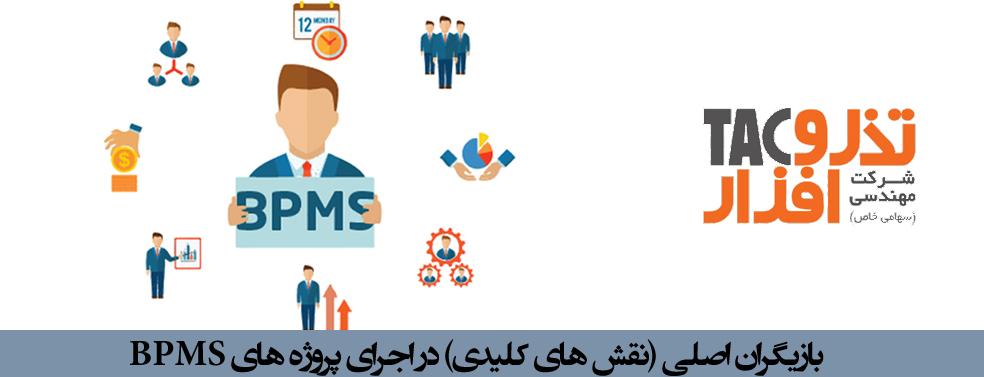بازیگران اصلی (نقش های کلیدی) در اجرای پروژه های BPMS